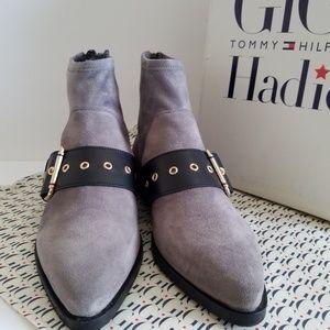 6938256880efb Tommy Hilfiger Shoes - Tommy Hilfiger GIGI HADID Grey Ankle Flat Boots